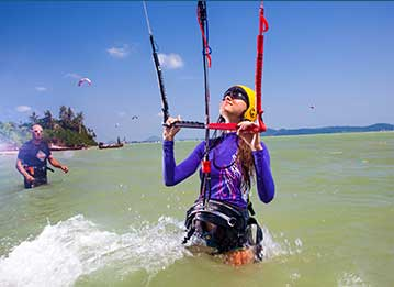 kitesurfing lesson course